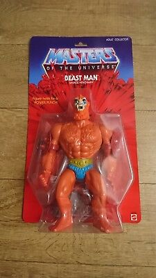 Mattel Giant Beast Man Masters Of The Universe He-Man Figure Sealed Exclusive