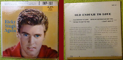 ! Ricky Nelson Ricky Sings Again (Old Enough To Love) EP IMP-161 TOP-ZUSTAND !