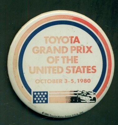 1980 Toyota Grand Prix of the United States Pinback Button