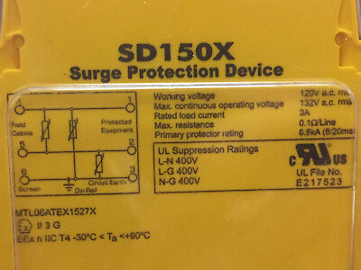 Surge Protection Device SD150X MTL 150v din rail mounting current electrical