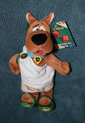 "Warner Brothers SCOOBY DOO ROMAN TOGA 9"" Bean Bag Plush - NWT"