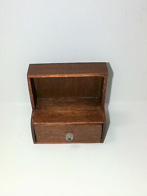 Dollhouse Miniature Handmade Shelf with Divided Drawer 1:12 Scale