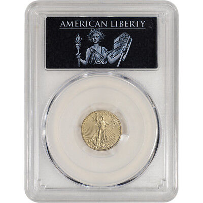 2017 American Gold Eagle 1/10 oz $5 - PCGS MS70 First Strike AL Label 1 of 500