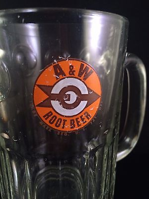 A&w Root Beer Heavy Thick Glass Beer Mug / Stein - Vintage Fast Food Promo Cup
