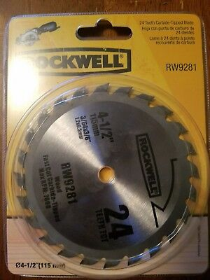 Rockwell RW9281 4 1/2-Inch 24T Carbide Tipped Compact Circular Saw Blade NEW