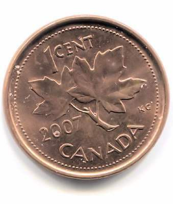 2007 Uncirculated Canadian Maple Leaf One Cent Coin - Canada Penny