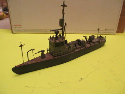 VINTAGE ALL WOOD WAR SHIP-11in COULD BE SUB CHASER-VERY DETAILED-FOLK/ART AS/FOU