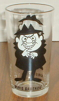 Vintage Pepsi Collector Glass Boris Badenov From Rocky & Bullwinkle Free Shippin