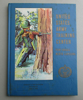 Fort Bragg NC US Army Training Center Yearbook~Company D First Battalion 1968