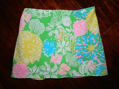 Lilly Pulitzer Girls Multi Color Shorts Attached Skort Skirt sz 10