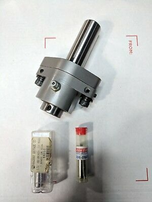 """New Somma Rotary Broach Holder 3/4"""" Shank 5/16 Tool Bore With Qty 2 Hex Broaches"""