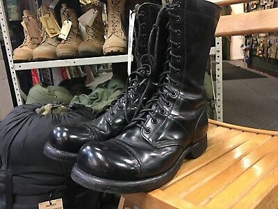 Corcoran Jump Boots US Army Paratrooper Men 7 Authentic Issue Black Leather
