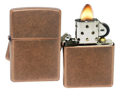 Zippo 301FB Antique Copper Finish Windproof Pocket Lighter New