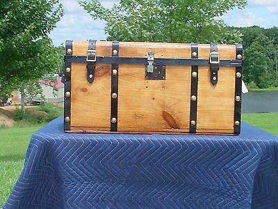 Antique Trunk With A Charming Restoration  Very Old Trunk! As Much As 148 Years