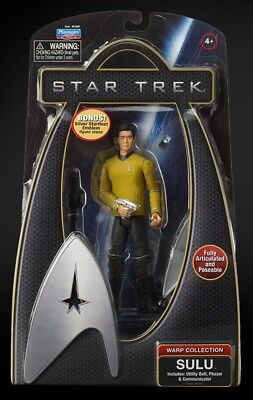 Star Trek Action Figur Sulu Warp Collection Raumschiff Enterprise NEU OVP Playma