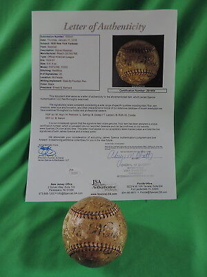 1930 New York Yankees Team Signed Baseball Babe Ruth Lou Gehrig Autographs L@@k