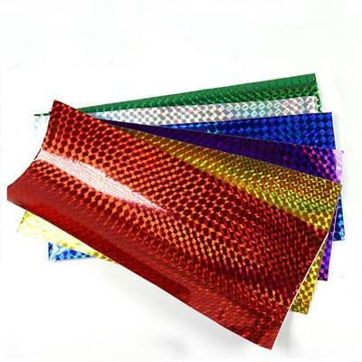 10*20cm Holographic Adhesive Film Flash Tape For Lure Making Fly Tying Materail