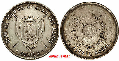 Philippines San Juan del Monte Shooting Club Silver Medal ND aVF, 38mm Basso-723