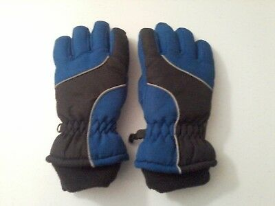 Thinsulate boys/toddler gloves, royal blue/black, size small