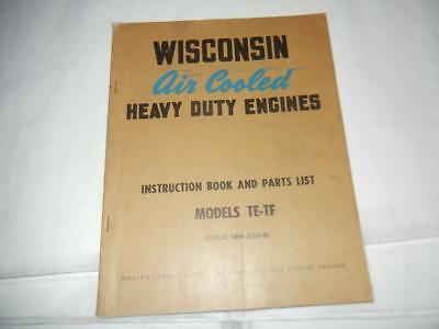 Vintage 1940's Wisconsin Air Cooled Engines Models Te-Tf Catalog