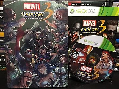 Marvel vs. Capcom 3: Fate of Two Worlds (Xbox 360, 2011) STEELBOOK