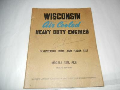 Vintage 1940's Wisconsin Air Cooled Engines Models Abn Akn Catalog