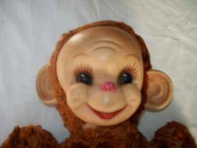 "1953 Vintage Rubber Face Rushton ""chico"" Baby Monkey"