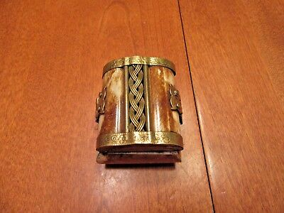 Wooden Lined Trinket Box / Latched