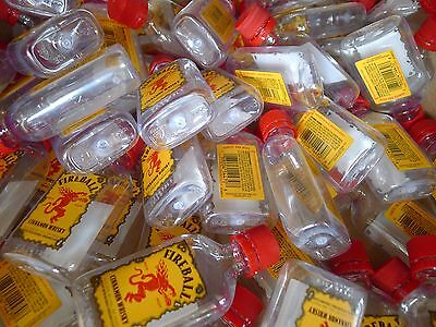 FIREBALL 15 Mini Bottles 50-ml Alcohol Liquor Cinnamon Whiskey Empty Crafts