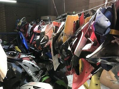 Business Opportunity Many hundreds of motorcycle fairings, panels, tanks, wheels