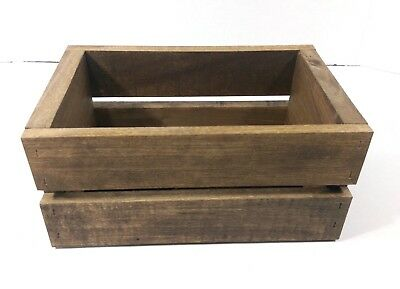 Small Rustic Provincial Stain Wooden Crate Box Handmade Reclaimed - 15 Colors!