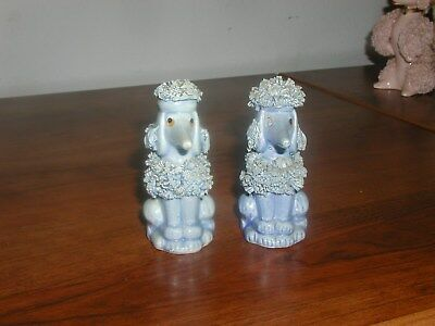 Pair OfBlue Spaghetti Poodle S&p Shakers - Look Great