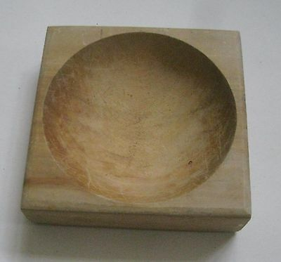 vintage SQUARE cutting/grinding mortar/bowl 6 1/4 inches