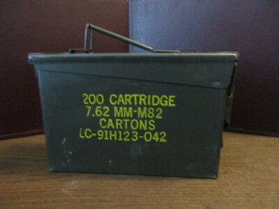 Ammo Can Box US  Military Ammunition Metal Storage  7.62 MM-M82 - LC-91H123-042