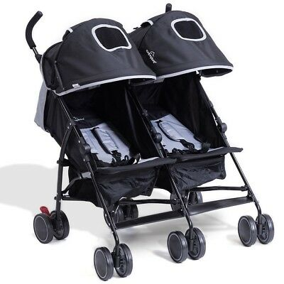 Portable Twin Baby Infant Kids Double Jogger Stroller Travel Outdoor 2 Colors