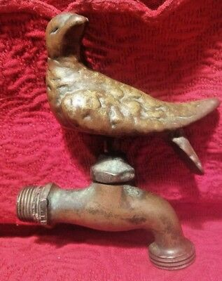 Avian Brass Hose Faucet..Hawk Bird Estate Fresh True Vintage/Antique