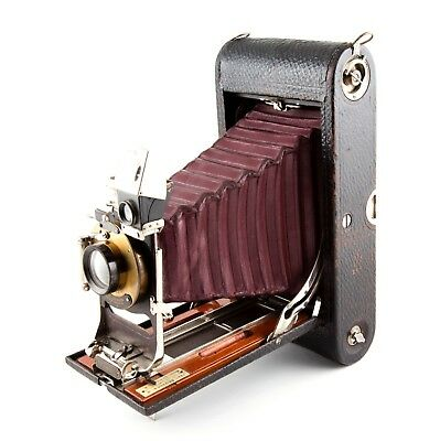 Antique Vintage Old Kodak Folding 3 A Camera with Red Bellows Model B-2