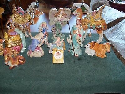 Highly Collectible Fitz & Floyd Nativity excellent conditionSet
