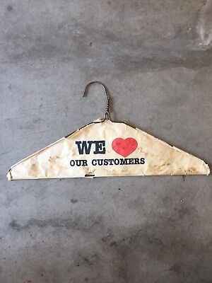 Antiques Dry Cleaning Hanger 1950 St Louis Wire Metal Clothes Hanger