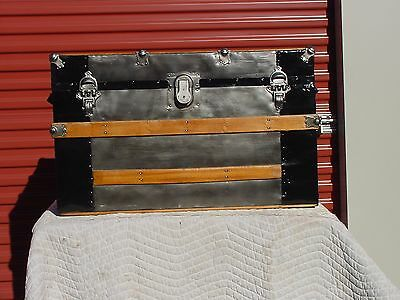 Antique Trunk  Pat'd 1890  128 Years Old?  Original Tray  Wonderful Restoration