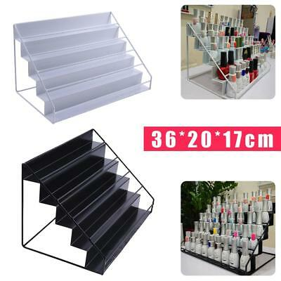 5 Tier Nail Polish Display Storage Shelf Iron Mount Organizer Stands Rack New!