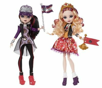 DAMAGE BOX Ever After High School Spirit Apple White and Raven Queen Doll 2-Pack