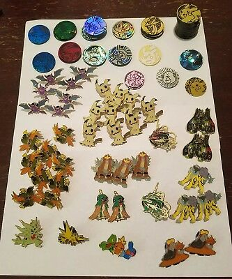 Large Lot of 80+ Pokemon Official Collector Pins and Coins - some rares