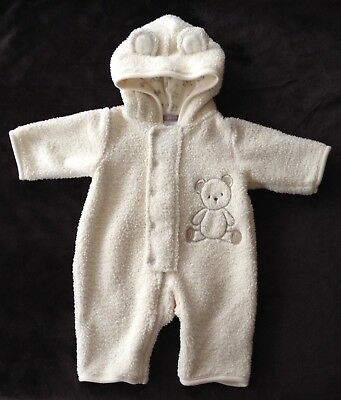 CARTER'S Bunting Snow Suit Bear Baby Boys Girls Size 3 Months EXTRA EUC & WARM!