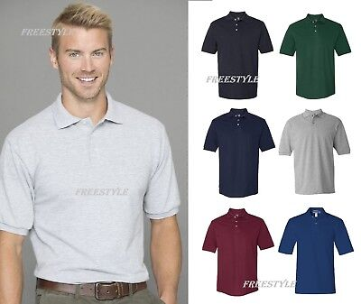 6c6c8f99 Jerzees Easy Care Double Mesh Ringspun Pique Sport Polo Tearaway T-Shirt  443M