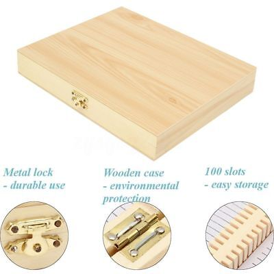 50-100 Slot Wooden Microscope Glass Slides Case Box Holder Storage Specimen Wood