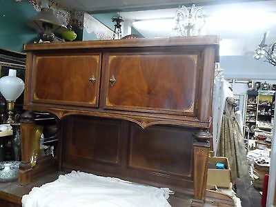 hand made 1930s one of a kind inlaid marquetry sideboard