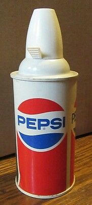 1985 Straight Steel Pepsi Cola Celebrates First in Space Beer Soda Flat Top Can