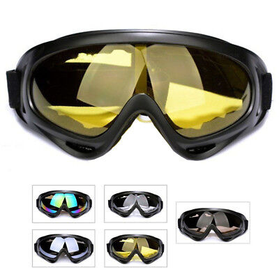 Motorcycle Goggles Over Glasses Black Frame & Clear Lens For Classic Men