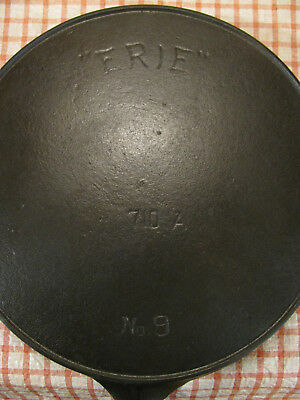 """""""ERIE"""" No. 9 Cast Iron Skillet with Heat Ring – No. 710A"""